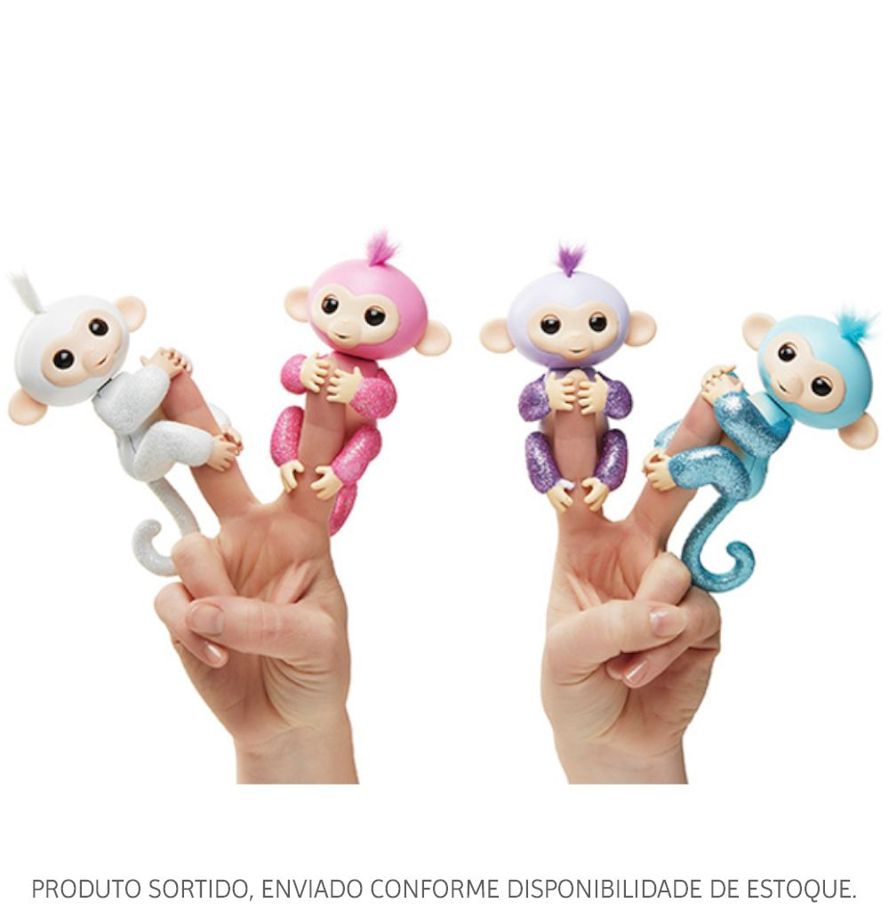 Baby Monkey Fingerlings Glitter Interativo Sortido 3601 Candide