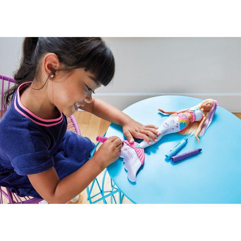 Barbie Dreamtopia Sereia Crayola GCG67 Mattel