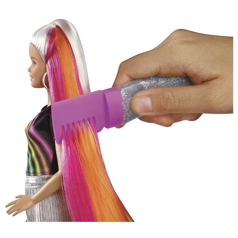 Barbie Penteados Arco-Íris FXN96 Mattel