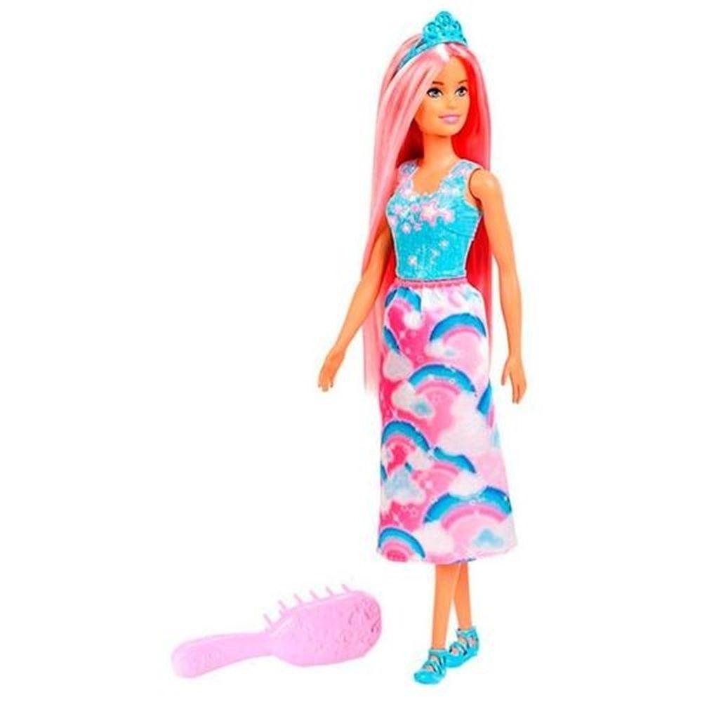 Barbie Princesa Dreamtopia Cabelo Rosa FXR94 Mattel