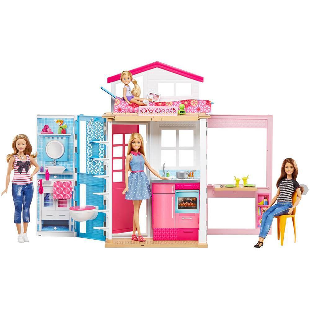 Casa da Barbie 2 Andares 4 Cômodos DVV48 Mattel