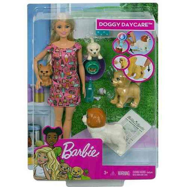 Boneca Barbie Treinadora de Cachorrinhos FXH07 Mattel