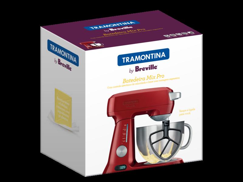 Batedeira Aluminio Vermelha 220V Mix Pro 4,7L 69015/022 Tramontina