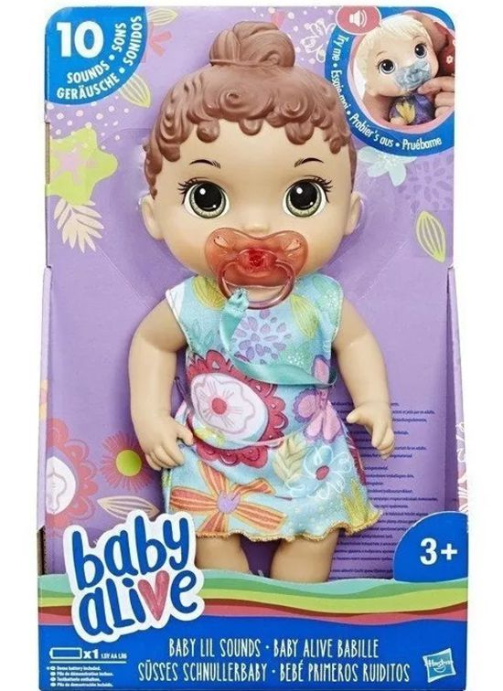 Boneca Baby Alive Bebê Primeiros Sons Morena E3688 Hasbro