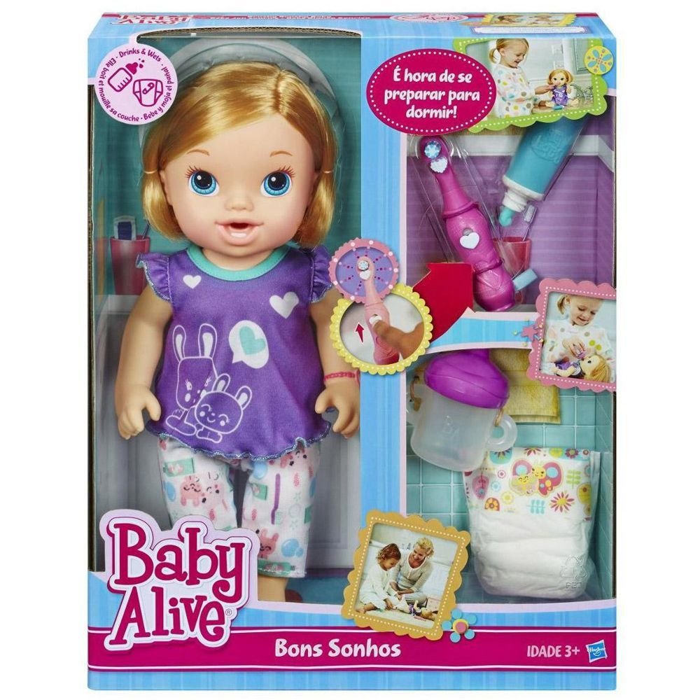 Baby Alive Bons Sonhos Loira A8348 Hasbro