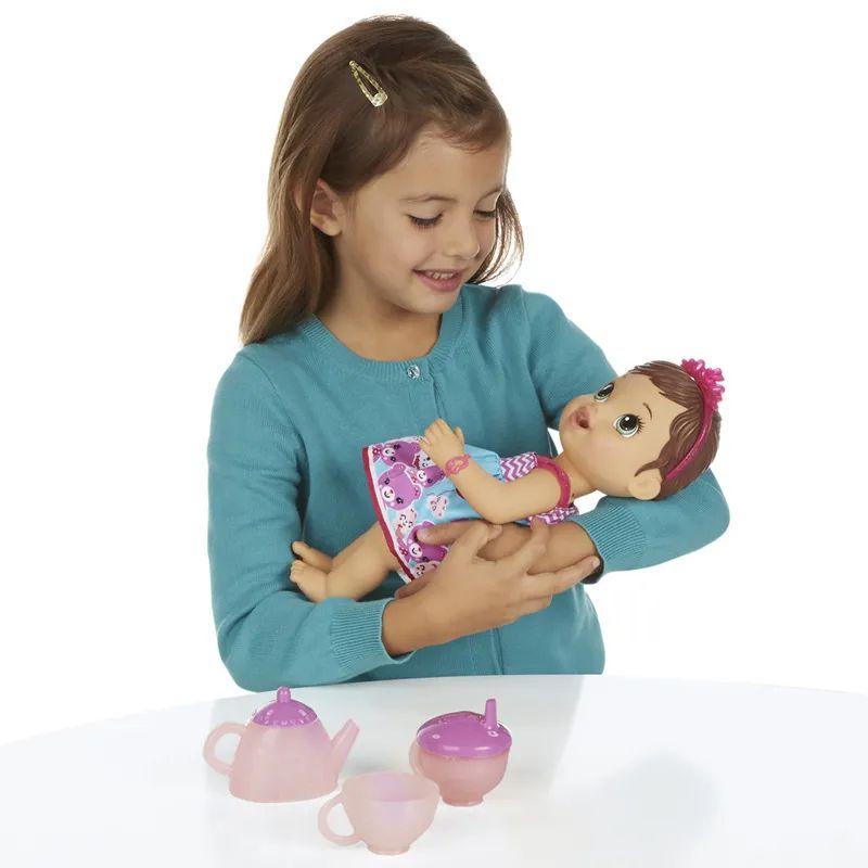 Boneca Baby Alive Hora do Chá Morena A9289 Hasbro