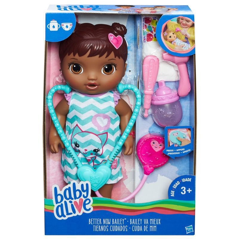 Boneca Baby Alive Cuida de Mim Negra C2693 Hasbro