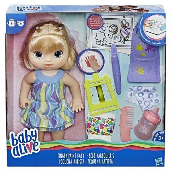 Boneca Baby Alive Pequena Artista Loira C0960 Hasbro