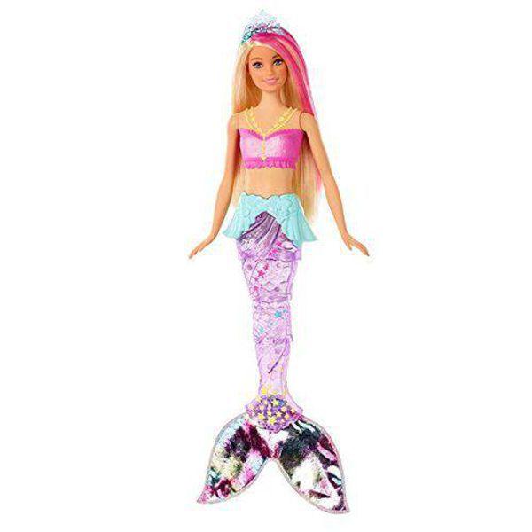 Barbie Sereia Luzes Arco-Íris Sortido GFL81 Mattel