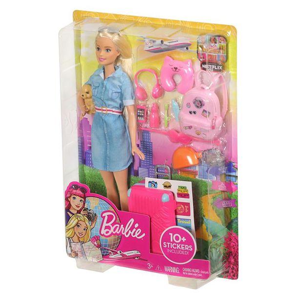 Boneca Barbie Viajante FWV25 Mattel