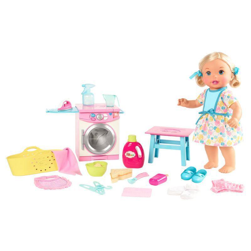 Boneca Bebê - Little Mommy - Hora de Comer e Lavar - Mattel