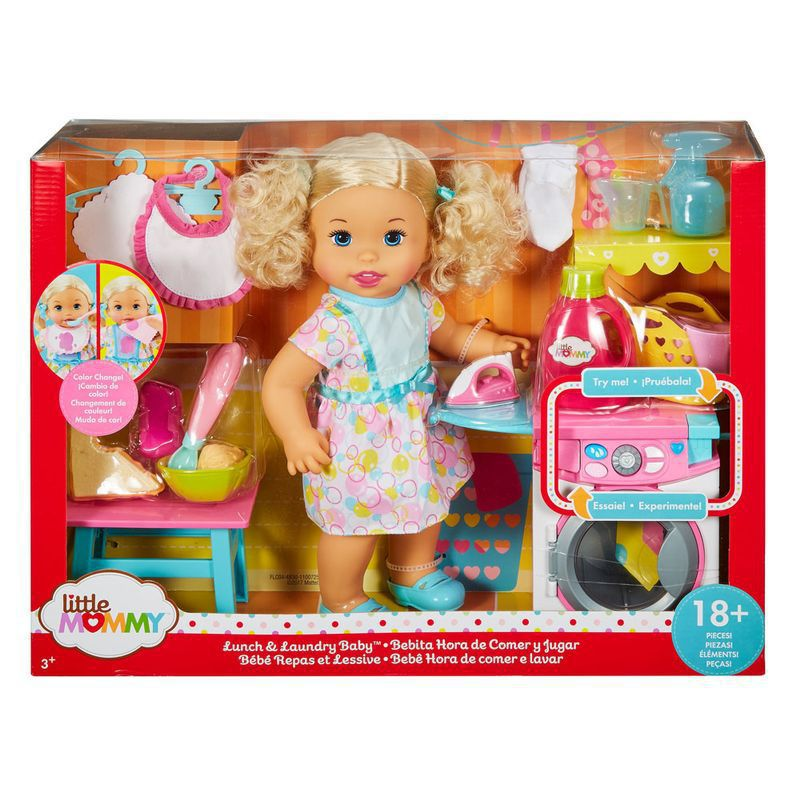 Boneca Little Mommy Hora de Comer e Lavar FLC04 Mattel