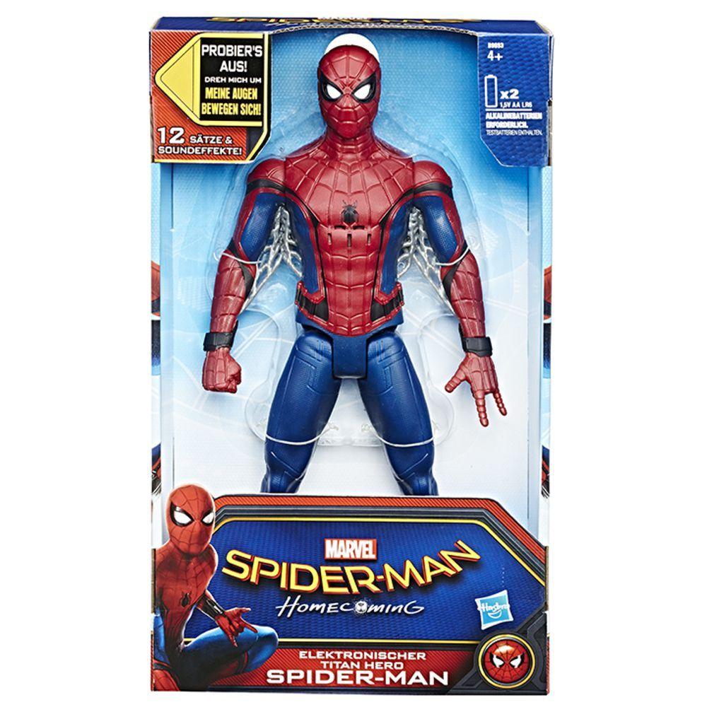 Boneco Spider Man Filme Figura Eletrônica B9693 Hasbro