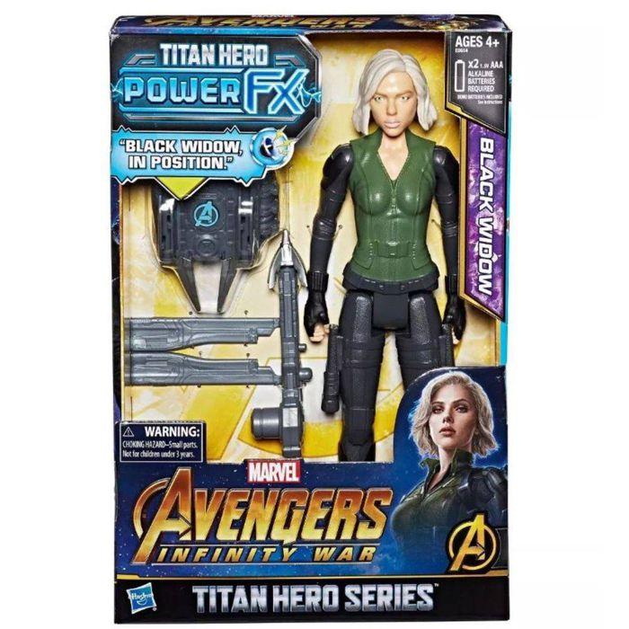 Boneco Titan Hero Power FX Viúva Negra Marvel E0614 Hasbro