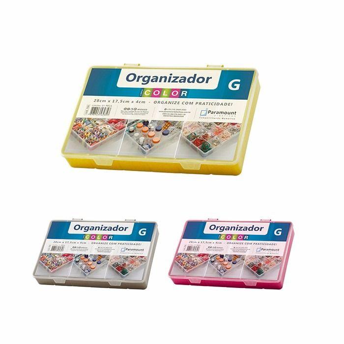 Box Organizador G Color 28x17,5x4cm Sortido 706 Paramount