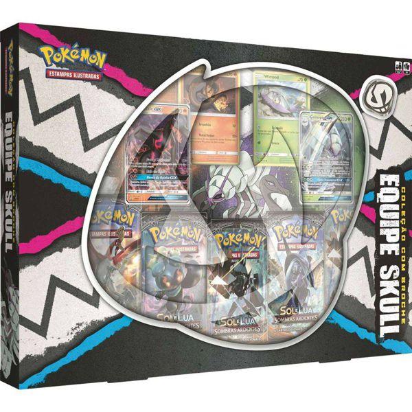 Box Pokémon Equipe Skull com Broche 98464 Copag