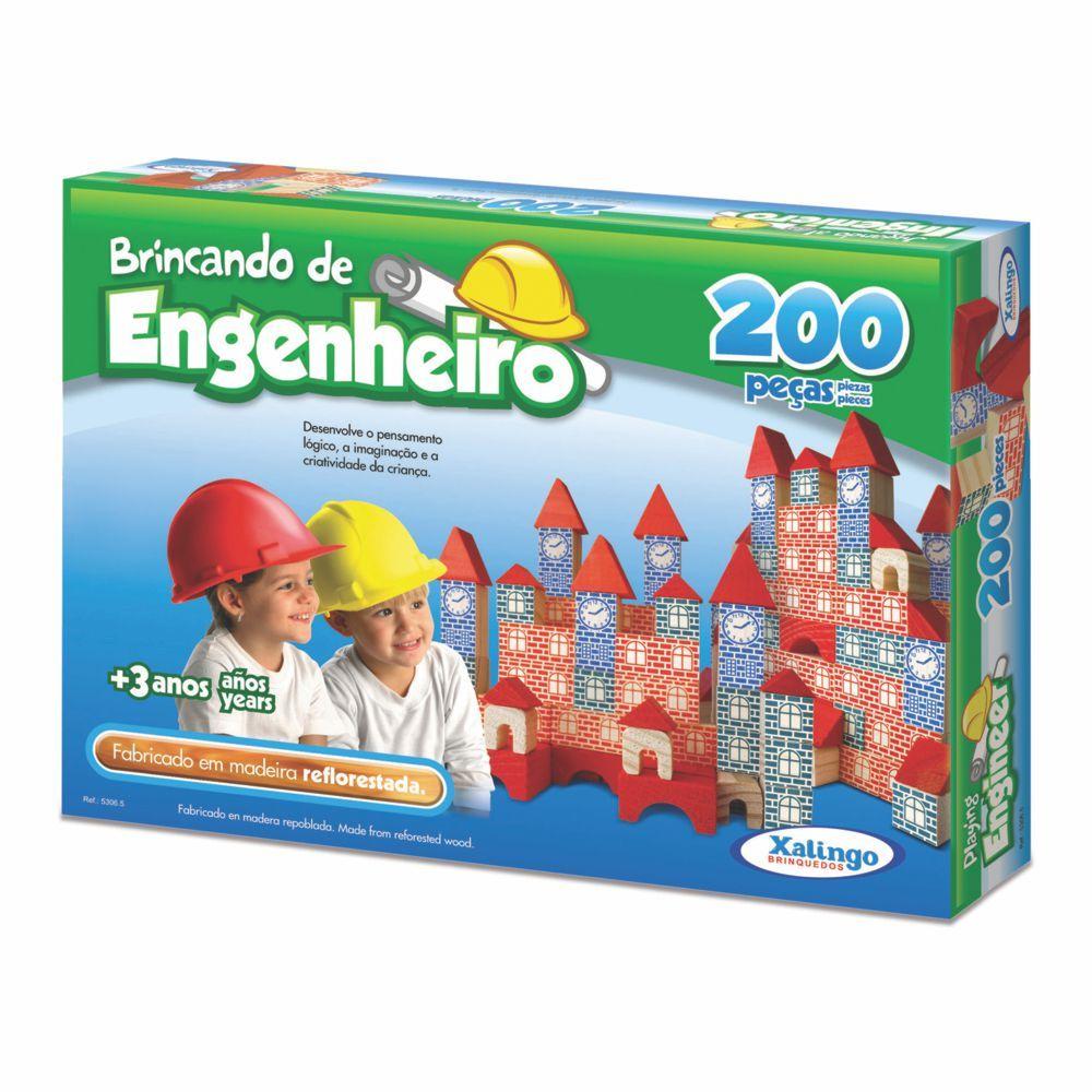 Brincando de Engenheiro 200 peças 5306.5 Xalingo