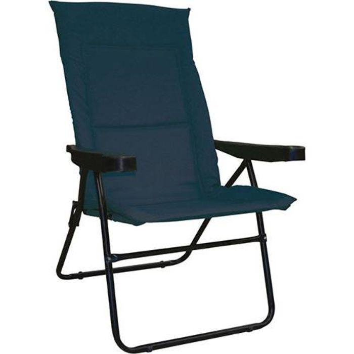Cadeira de Praia Alfa 4 Posições Azul 2302 Mor