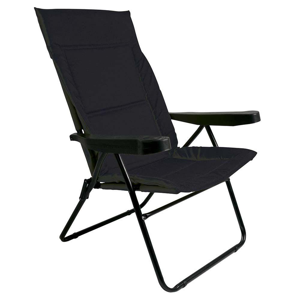 Cadeira de Praia Alfa 4 Posições Preta 2301Mor