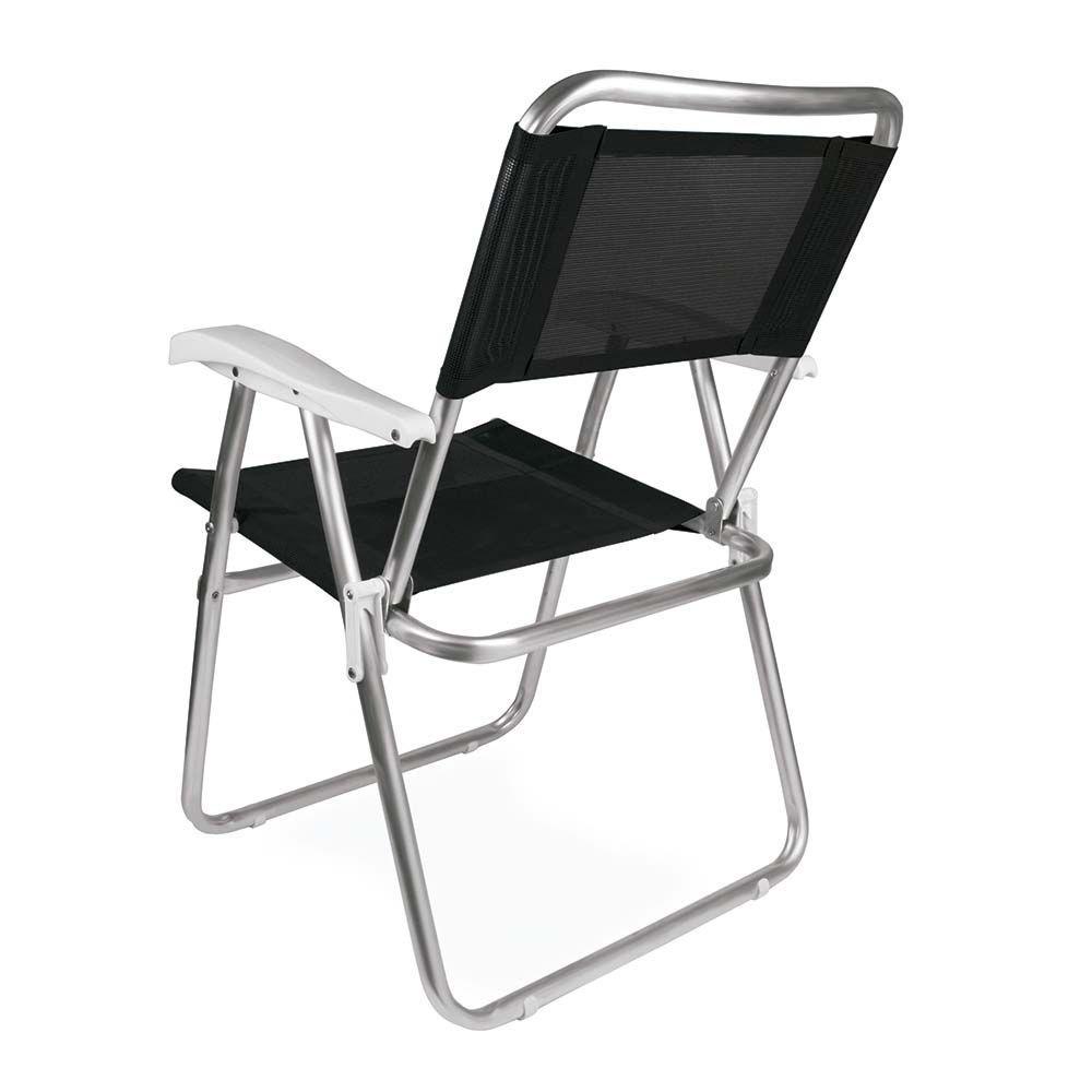 Cadeira de alumínio Master Preta Ref 2151Mor