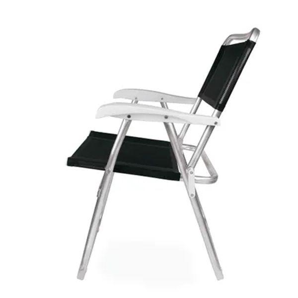 Cadeira de Praia Master Alumínio Preta 2151 Mor