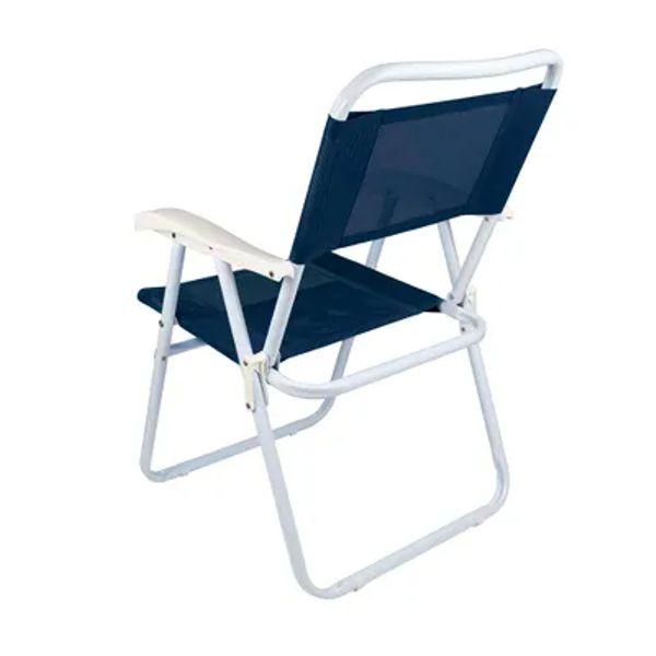 Cadeira De Praia Piscina Dobrável Master Azul 2003 Mor