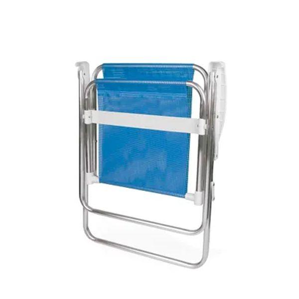 Cadeira de Praia Sannet Alta Aluminio Azul 2274 Mor
