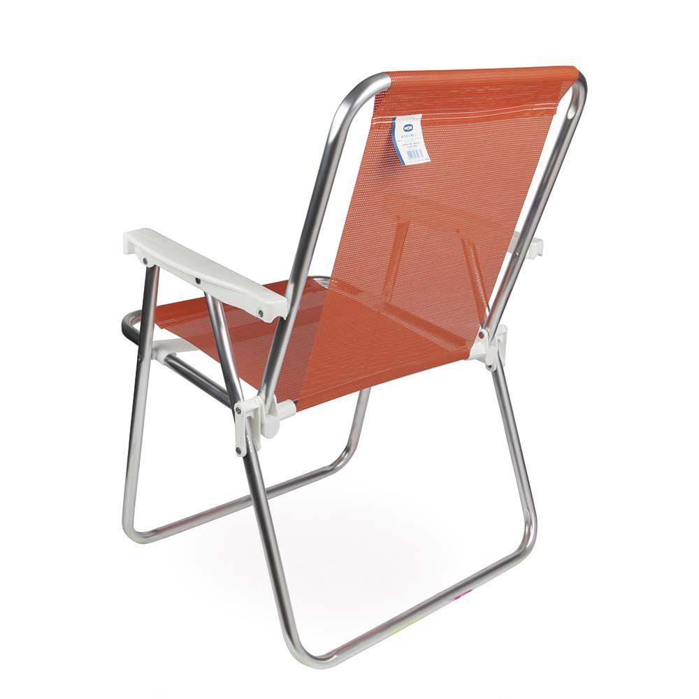 Cadeira de Praia Sannet Aluminio Alta Coral Ref 2277Mor