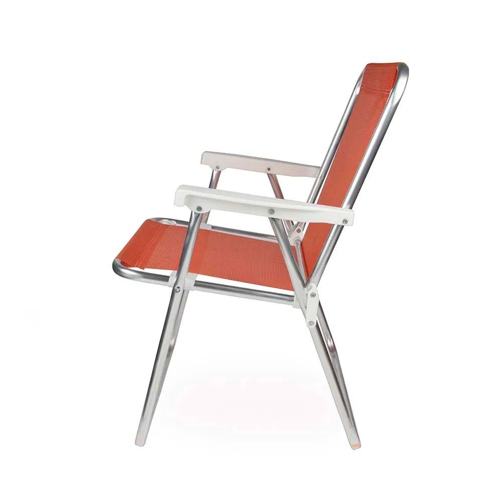 Cadeira de Praia Sannet Alta Aluminio Coral 2277 Mor
