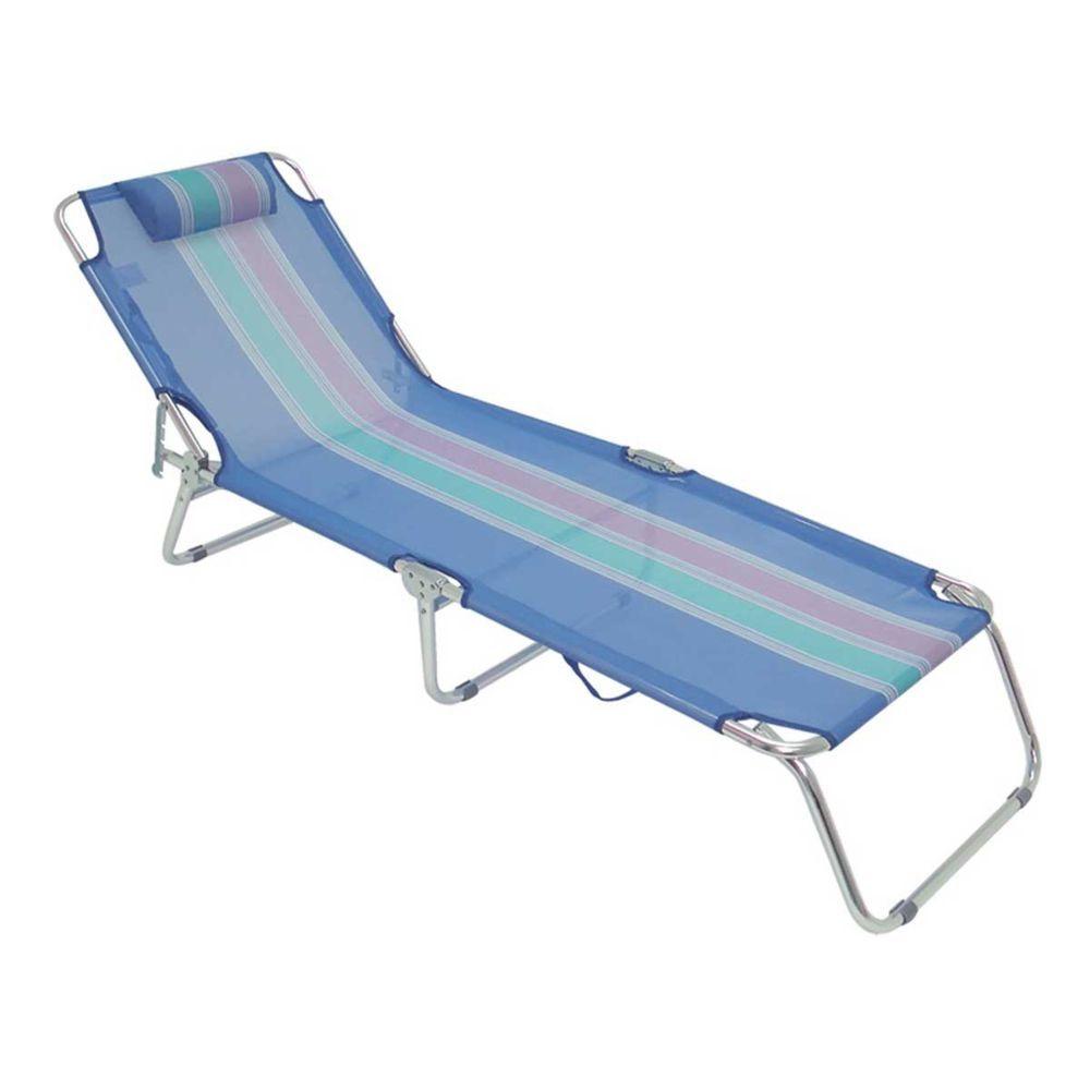Cadeira Espreguiçadeira Dobrável Alumínio Azul 4 Posições 2414 Mor