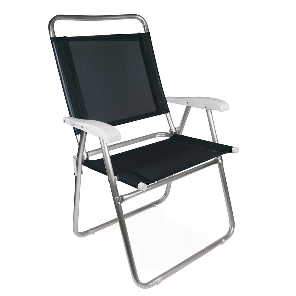 Cadeira Master Plus Alumínio Preta Ref 2152Mor