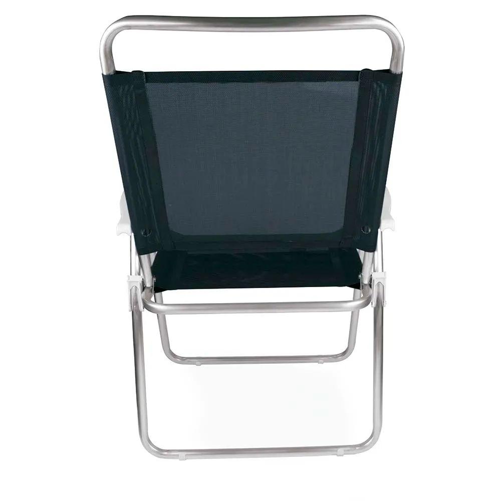 Cadeira de Praia Master Plus Alumínio Preta 2152 Mor