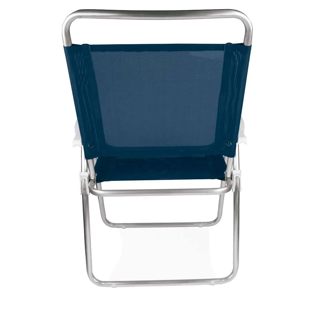 Cadeira de Praia Master Plus Alumínio Azul 2112 Mor