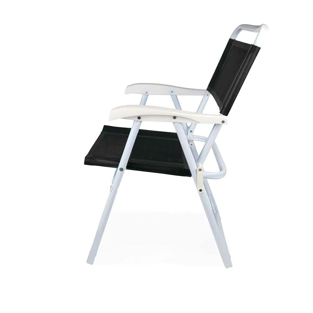 Cadeira de Praia Master Alumínio Preta 2035 Mor