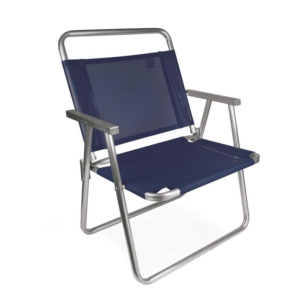Cadeira de Praia Oversize Alumínio Azul 2132 Mor