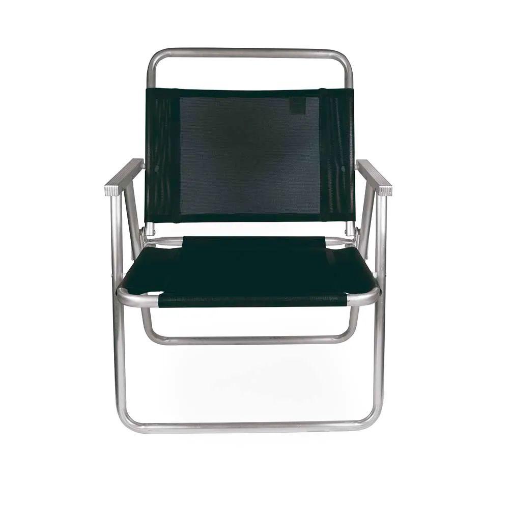 Cadeira de Praia Oversize Alumínio Preta 215 3Mor