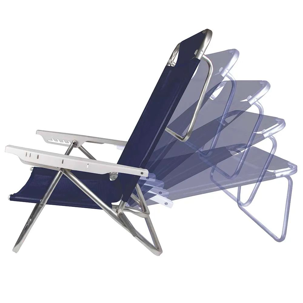 Cadeira de Praia Reclinável Summer 6 Posições Azul Royal 2105 Mor