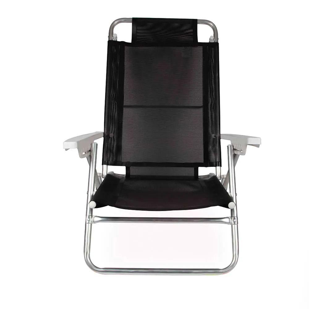 Cadeira de Praia Reclinável Summer Preta 2155 Mor