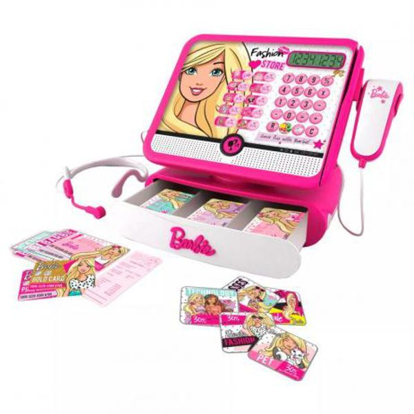 Caixa Registradora Barbie Luxo 7274-9 FUN