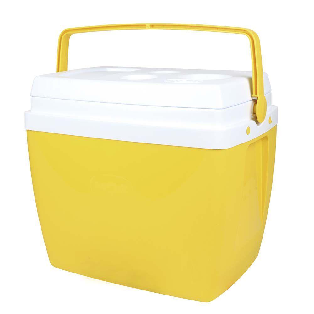 Caixa Térmica 34 Litros Amarela Ref 25108165Mor