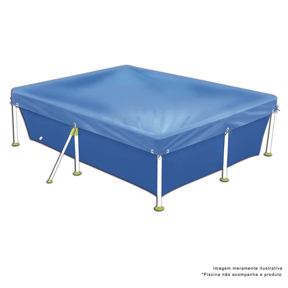 Capa Para Piscina 3000 Litros Standart Azul Ref 1405Mor