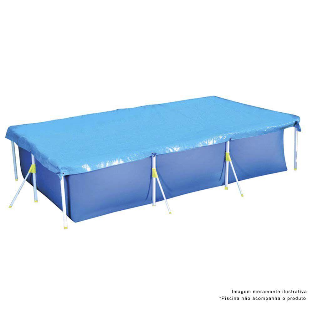 Capa Para Piscina 3700 Litros Premium Azul Ref 1413Mor