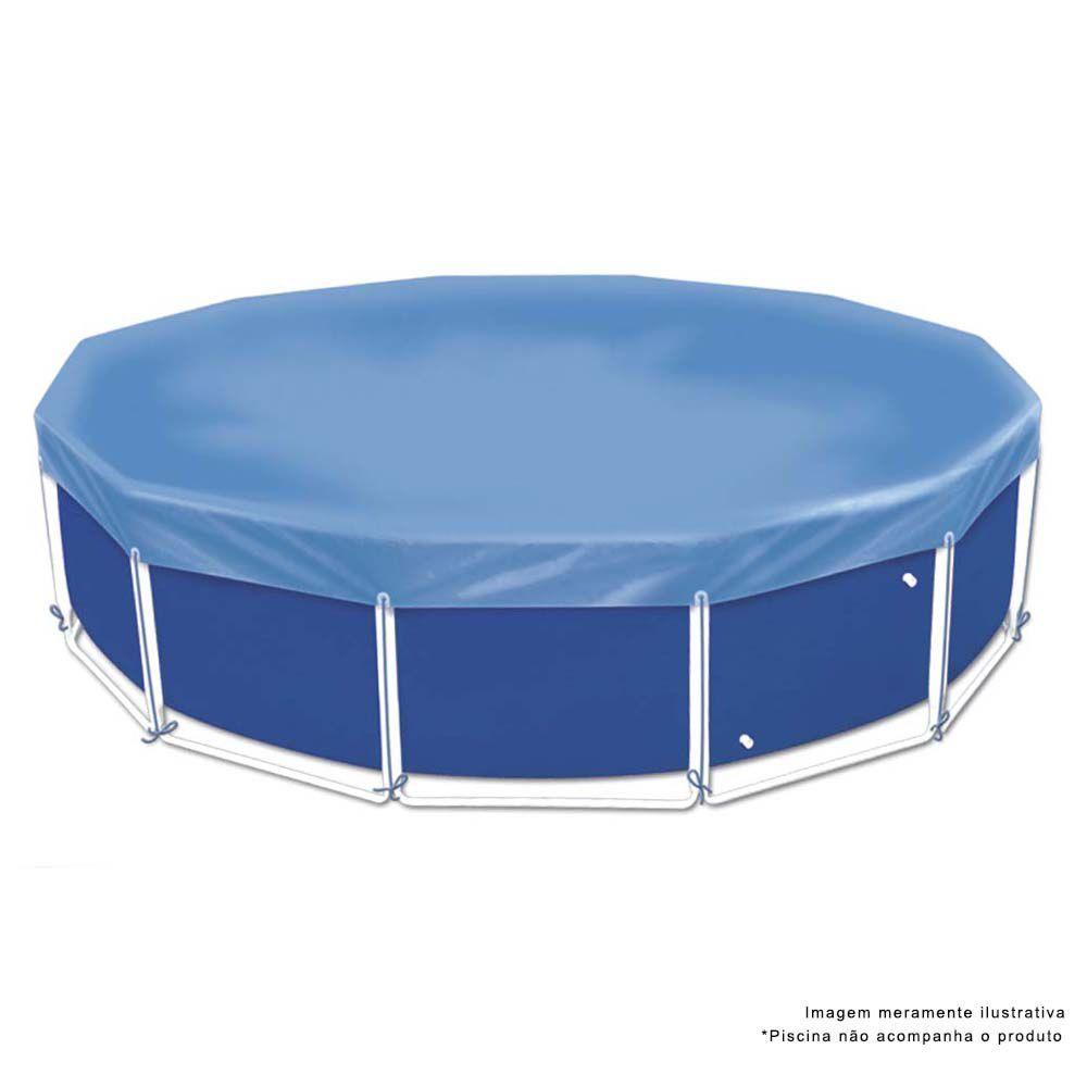 Capa Para Piscina Circular 4500 Litros Azul Ref 1406Mor