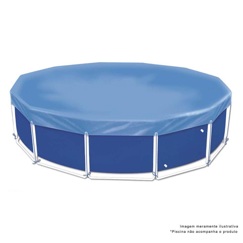 Capa Para Piscina Circular 5500 Litros Azul 1407 Mor