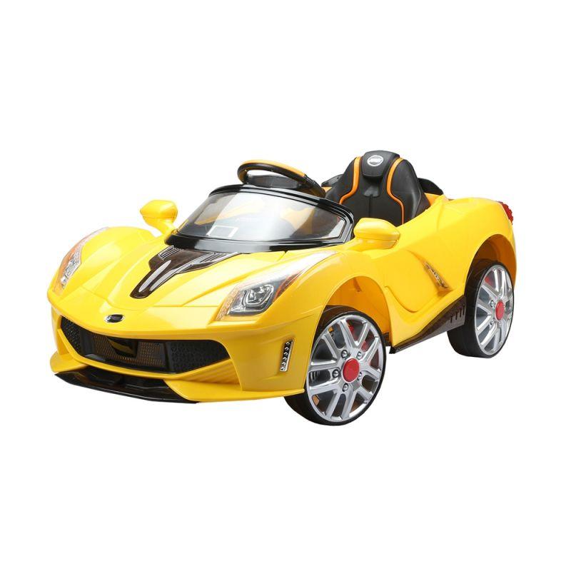 Carro Elétrico Esporte Luxo C/ Controle Remoto 12V Amarelo Belfix