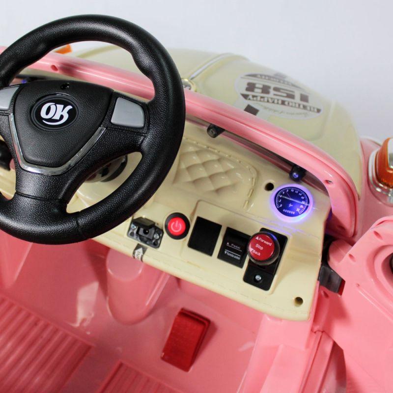 Carro Elétrico Fusca Rosa 6v Com Controle Remoto 914300 Bel Brink
