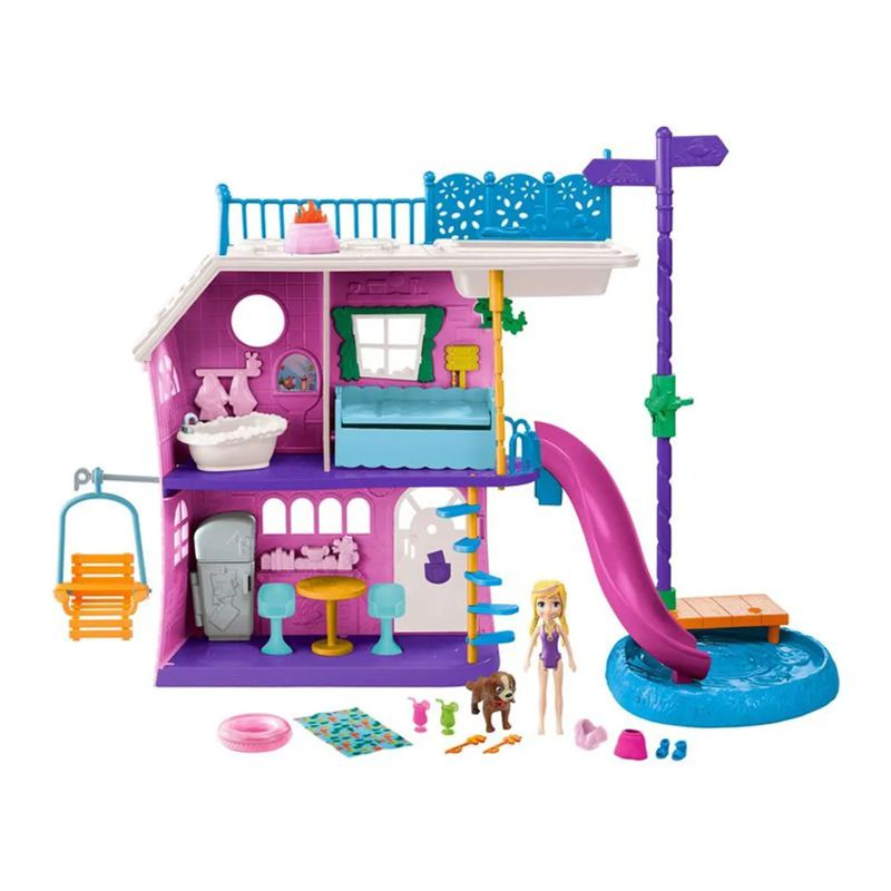 Casa do Lago da Polly Pocket GHY65 Mattel