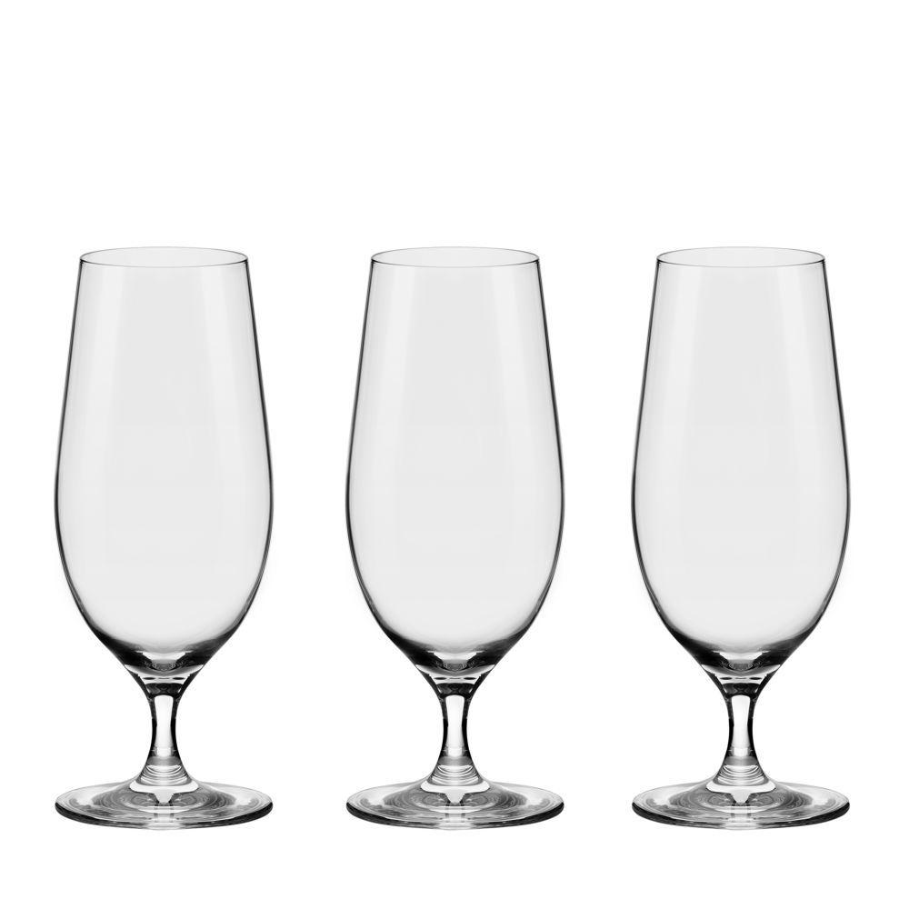 Taça Cristal Linha Beer Glass 3 peças 460ml Oxford