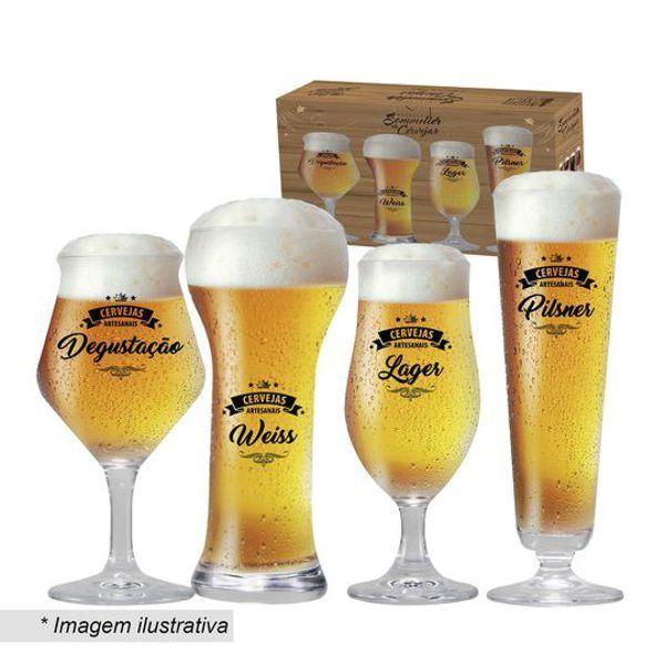 Conjunto de Taças Cervejas Claras 4 Peças 4800002 Ruvolo