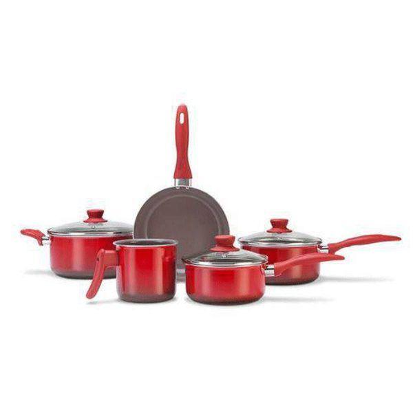 Conjunto de Panelas 5 Peças Ceramic Life Smart Vermelho 4789/100 Brinox